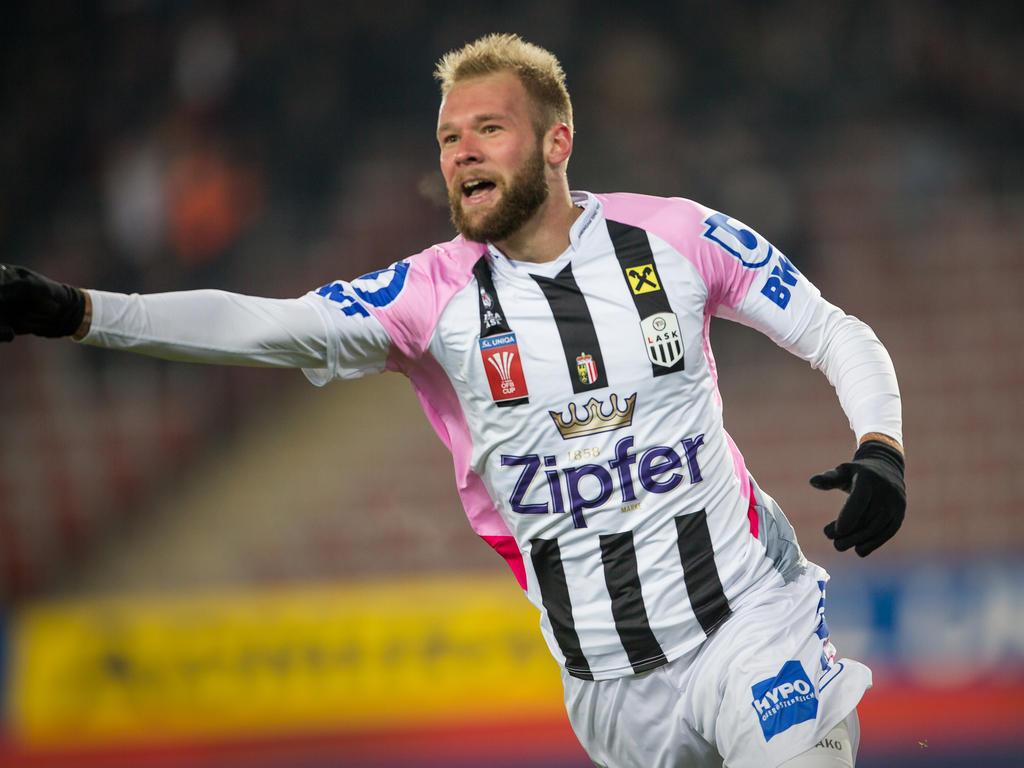 João Klauss erzielte das wichtige 1:0 für den LASK