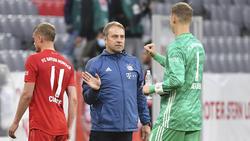 Mit der Leistung des FC Bayern hochzufrieden: Hansi Flick