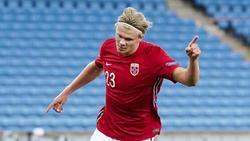 Traf gegen Rumänien gleich dreimal: Norwegens Erling Haaland