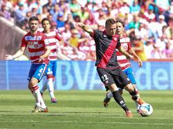 Saúl erzielt den Führungstreffer für Rayo