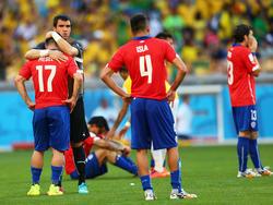 Nach der Niederlage gegen Brasilien waren die Chilenen völlig frustriert