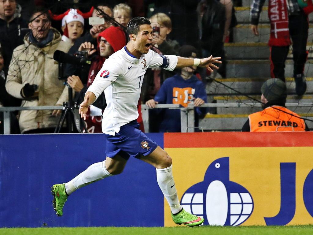 Cristiano Ronaldo fue la estrella del encuentro con tres dianas. (Foto: Getty)