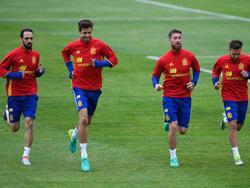 Spanien trainiert