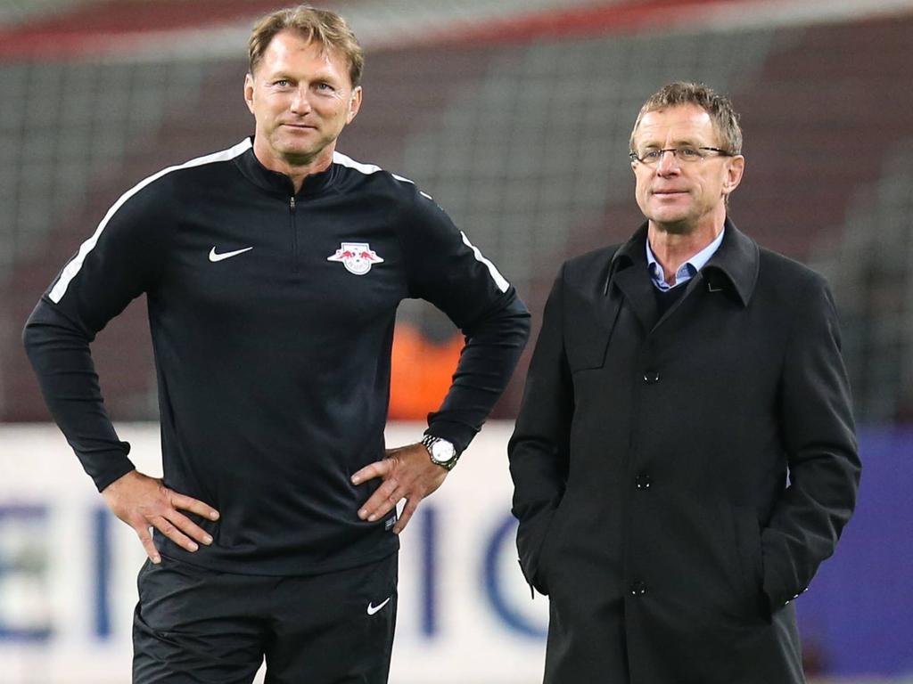 Ralph Hasenhüttl (l.) und RB-Boss Ralf Rangnick