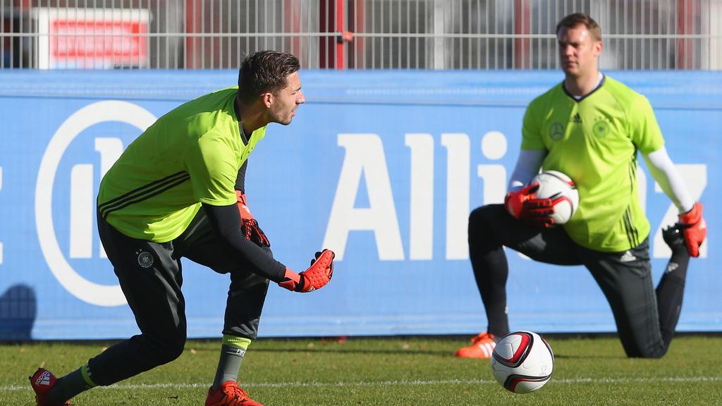 Kevin Trapp (l.) und Manuel Neuer fuhren zusammen zur WM 2018