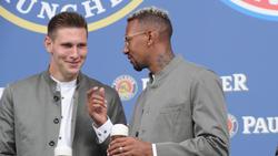 Niklas Süle und Jérôme Boateng vom FC Bayern sind gut befreundet