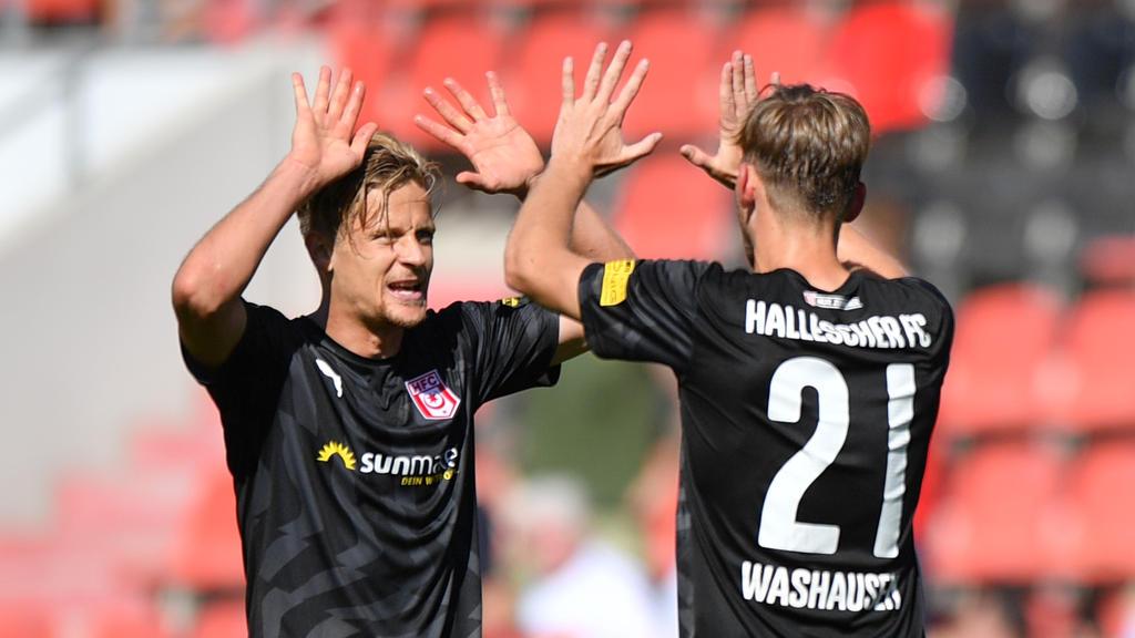 Der Hallesche FC erobert die Tabellenführung der 3. Liga