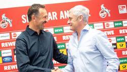 Noch gemeinsam beim 1. FCKöln: Trainer Achim Beierlorzer (l.) und Geschäftsführer Armin Veh