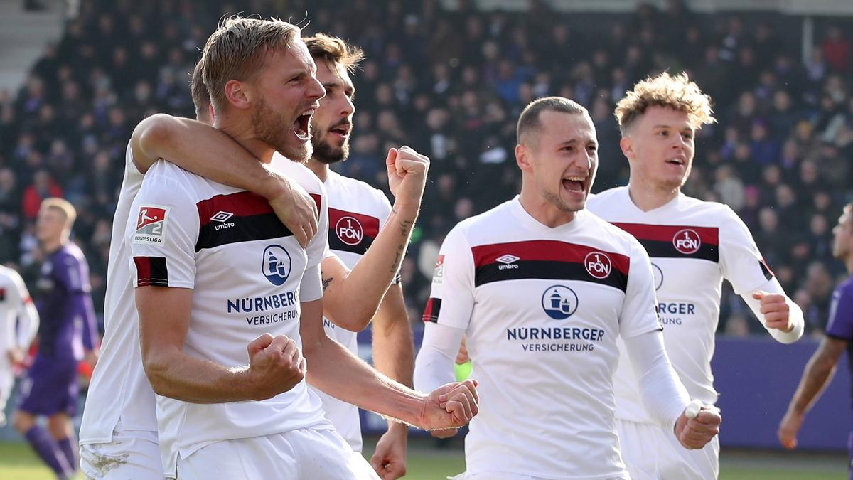der 1. FC Nürnberg feiert an der Bremer Brücke den zweiten Liga-Sieg in Folge