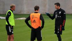 Robert Lewandowski eckte im Training des FC Bayern an