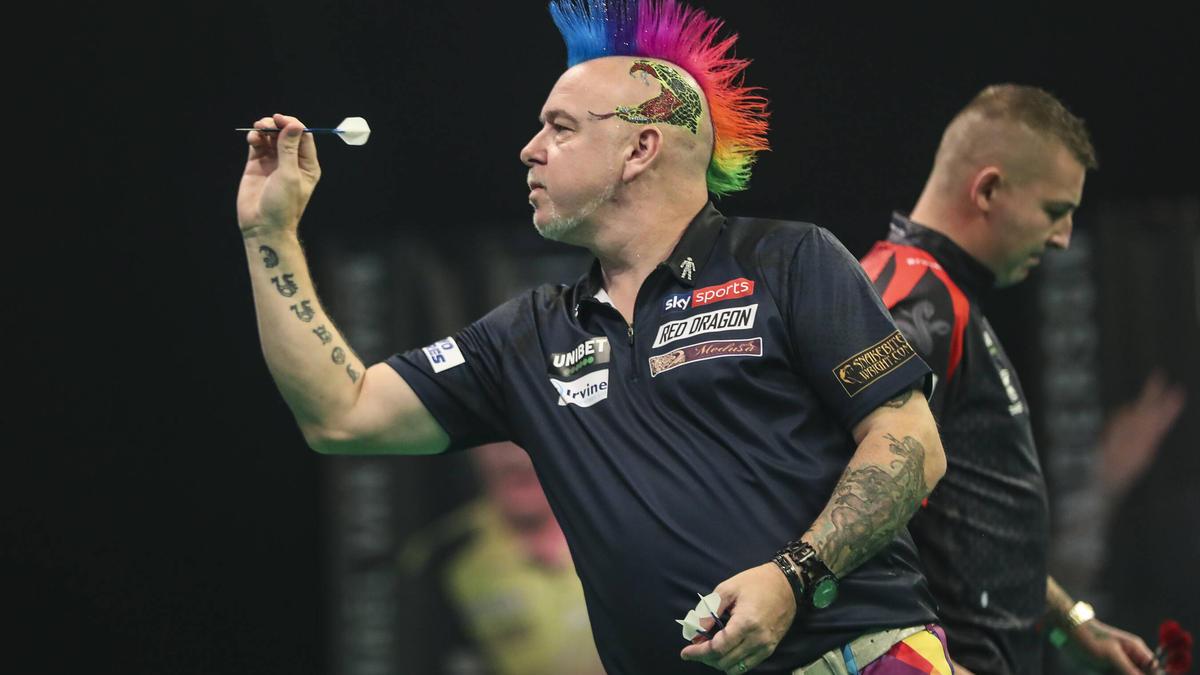 Peter Wright peilt den Titel bei der Darts-EM an