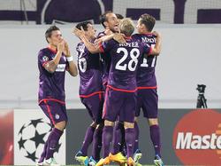 Die Austria jubelt über den Einzug in die Champions League