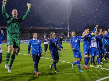 Los islandeses celebraron el empate a cero como si hubieran ganado el Mundial. (Foto: Getty)