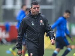 Roy Makaay is aanwezig tijdens de training van Feyenoord (03-08-2016).