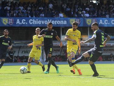 El Chievo en su partido contra el Inter. (Foto: Getty)