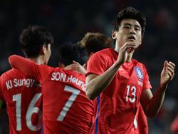 Ja-cheol Koo (r.) darf auf eine WM-Teilnahme hoffen