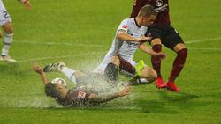 Die Wasserschlacht in Nürnberg endete ohne Sieger