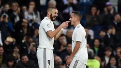 Karim Benzema (l.) erzielte den Siegtreffer für Real Madrid