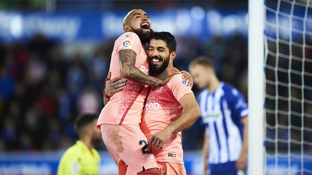Arturo Vidal und Luis Suárez stehen mit dem FC Barcelona kurz vor der Meisterschaft