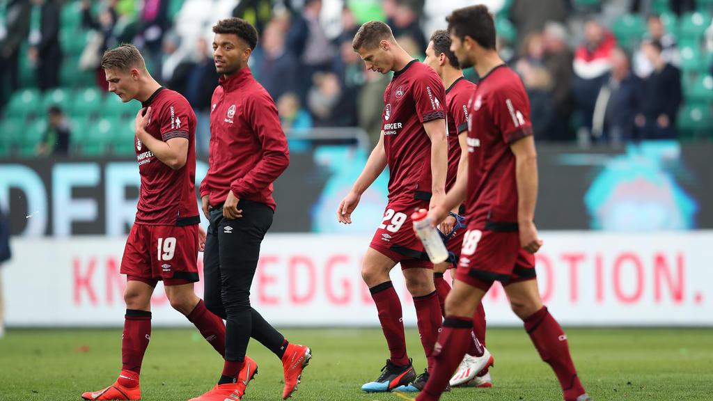 Beim VfL Wolfsburg unterlag der 1. FC Nürnberg nach eigenen Fehlern mit 0:2