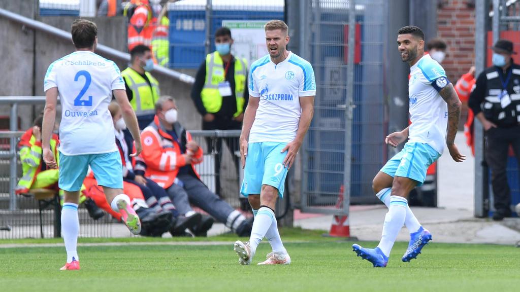 Simon Terodde hat dem FC Schalke zum ersten Saisonsieg verholfen