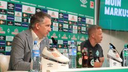 Frank Baumann stärkt Werder-Trainer Markus Anfang den Rücken