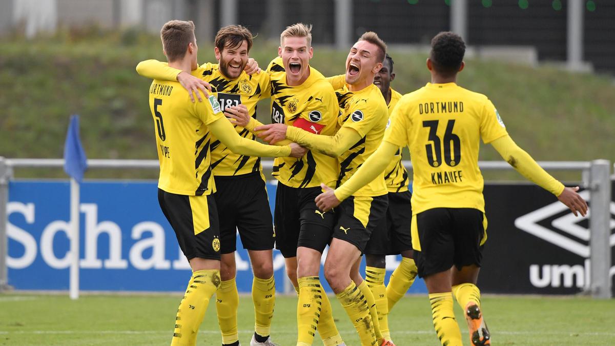 Die U23 des BVB feiert einen deutlichen Sieg beim FC Schalke 04 II