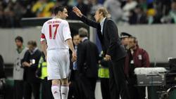 Mark van Bommel (l.) resümierte seine Zeit beim FC Bayern
