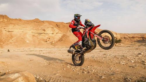 Honda-Fahrer Kevin Benavides siegte erstmals bei der Rallye Dakar