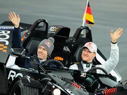 Schumi und Seb zeigen's der Konkurrenz