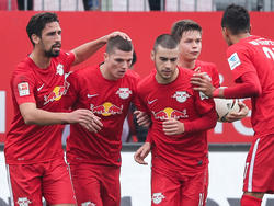 Nach dem Sieg in Sandhausen ist RB neuer Tabellenführer