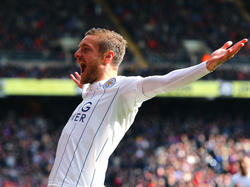 Vardy celebrando su gol ante el Crystal Palace (Foto: Getty)