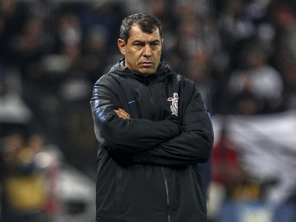 Fábio Carille entrenador de Corinthians.