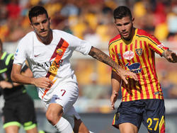Romas Lorenzo Pellegrini (l.) verletzte sich am Sonntag in Lecce