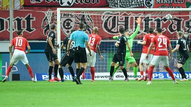 Der Hallesche FC und der SC Verl trennen sich mit einem Remis