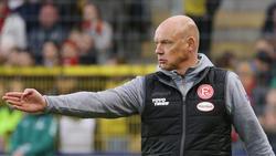 Düsseldorfs Trainer Uwe Rösler glaubt an das Erreichen des Halbfinales