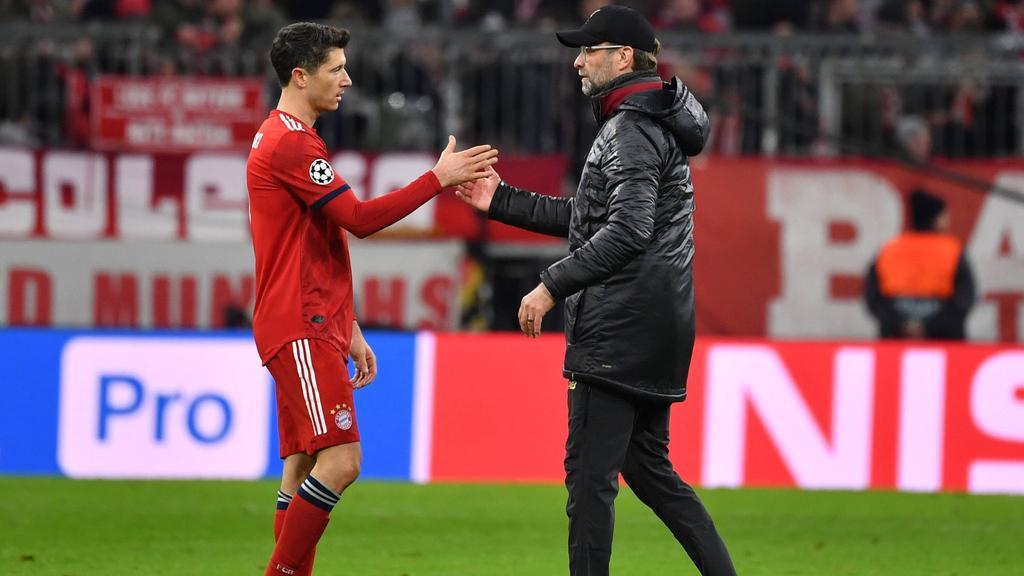 Robert Lewandowski (l.) und Jürgen Klopp trafen letztmals 2019 aufeinander