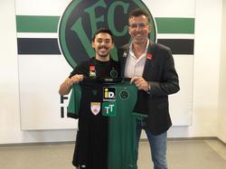 Wacker-Neuzugang João Luiz mit Sportdirektor Alfred Hörtnagl