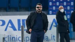 Gattuso en su etapa como técnico del Nápoles.