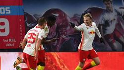 Forsberg (r.) war der Matchwinner für RB Leipzig