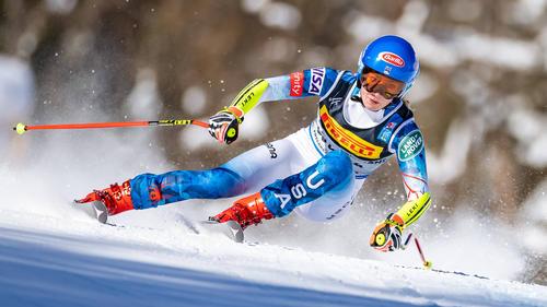 Mikaela Shiffrin liegt an guter dritter Position