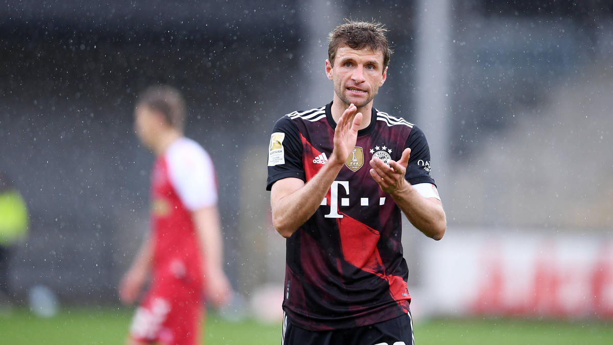 Thomas Müller vom FC Bayern steht vor dem DFB-Comeback