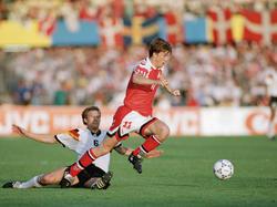 EM-Finale 1992: Laudrup zu flink für Buchwald