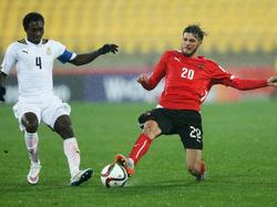 Das U20-Team betrieb gegen Ghana so wie hier Florian Grillitsch extremes Pressing