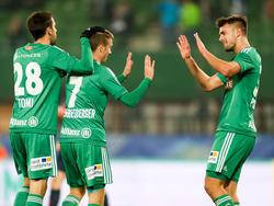 Rapid durfte im ÖFB-Cup gegen Austria Salzburg früh jubeln