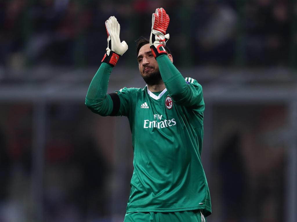 Gianluigi Donnarumma absolvierte seinen 100. Ligaeinsatz