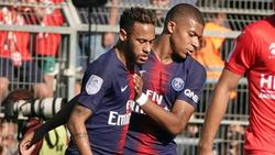 Neymar und Kylian Mbappé trafen gegen Nimes
