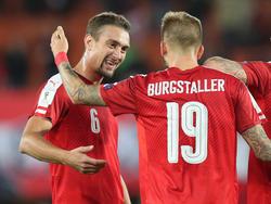 Stefan Ilsanker und Guido Burgstaller - im Nationalteam Kollegen, in der deutschen Bundesliga Rivalen