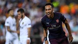 Aubameyang fulminó al Valencia con tres goles. (Foto: Getty)