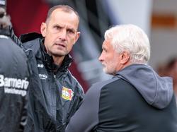 Heiko Herrlich und Rudi Völler sind das neue starke Duo in Leverkusen